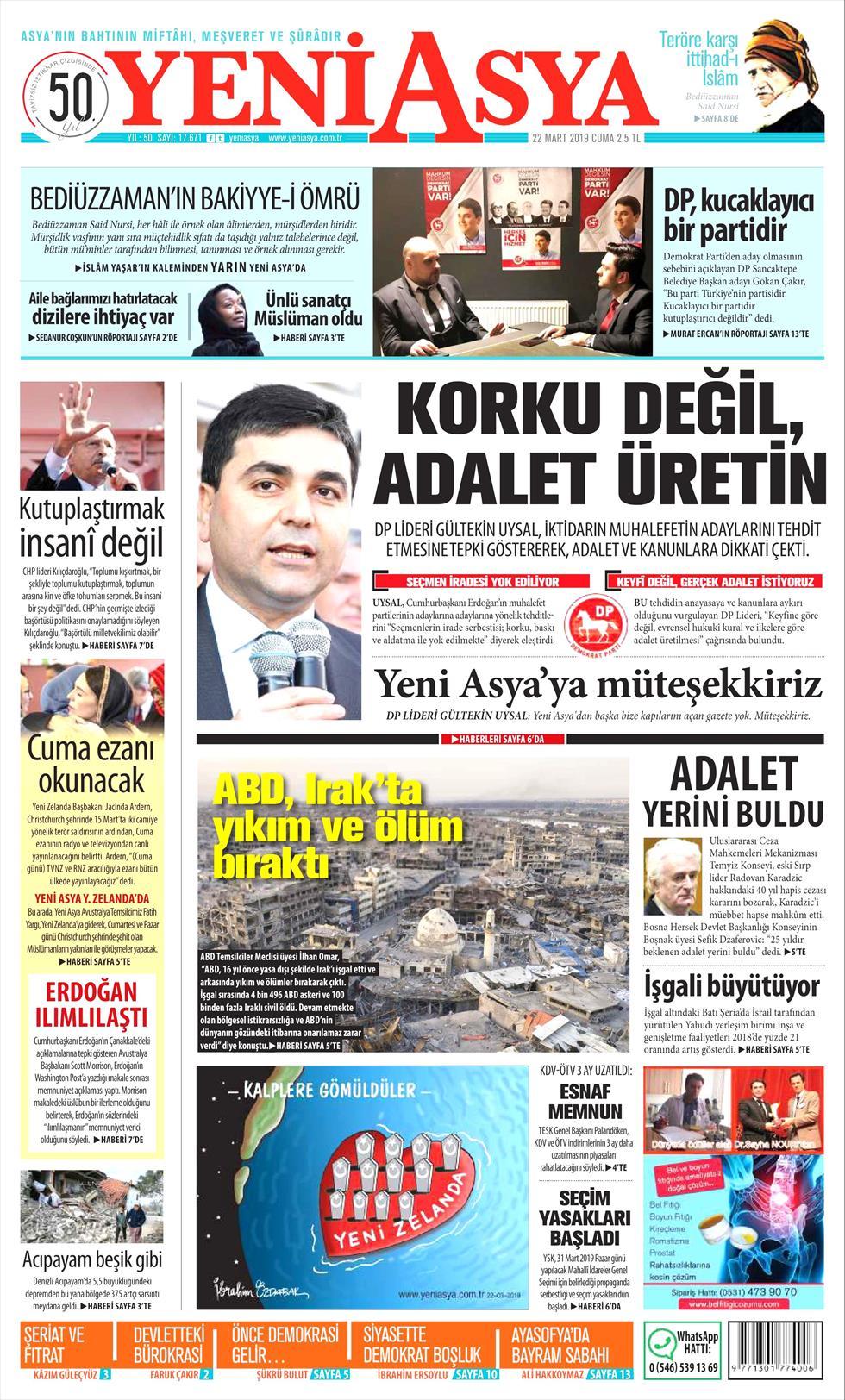 Yeni Asya Gazetesi