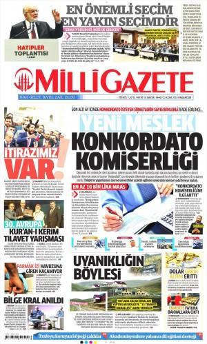 Milli Gazete Gazetesi