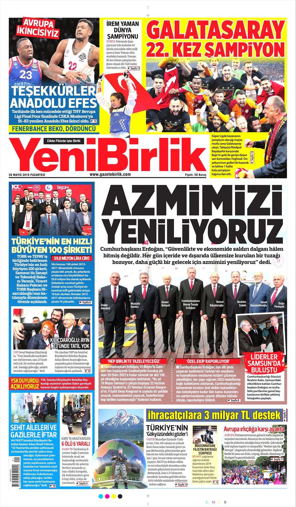 Yeni Birlik Gazetesi